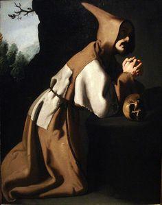 Francisco de Zurbaran, St. Francis in Prayer, 1638-39 by arthistory390, via Flickr