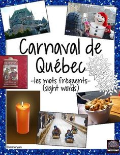 Use these 28 French flashcards to help your students learn words about Carnaval de Qubec! Included are 7 pages that can be used either as posters in the classroom or cut up to be individual word wall flashcards. Use all of the 28 vocabulary cards or choose the ones you wish your class to use.