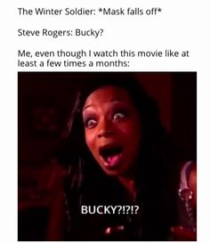 Bucky Barnes // Captain America: The Winter Soldier Captain Marvel, Marvel Avengers, Captain America, Avengers Memes, Marvel Funny, Marvel Memes, Marvel Dc Comics, Steve Rogers, Peter Quill
