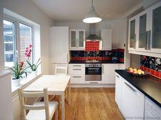 #Kitchen Idea of the Day: A space-saving modern white kitchen.