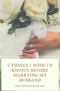 I was so caught up on the details of the wedding that I didnt take a step back to focus on the details of my future marriage. Heres five things I wish I knew about my husband before we got married First Year Of Marriage, Before Marriage, Happy Marriage, Marriage Advice, Love And Marriage, Dating Advice, We Get Married, Getting Married, Married Life