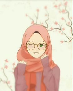 hijab drawing Hijab and glasses girl Cartoon Kunst, Cartoon Art, Art And Illustration, Tmblr Girl, Hijab Drawing, Moslem, Islamic Cartoon, Hijab Cartoon, Islamic Girl