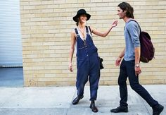 7+Casual+Cool+Looks+With+Dark+Denim+Overalls+via+@WhoWhatWear