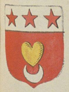 Thimothée René REMPILLON, sieur du Breuil. Porte : de gueules, à un cœur d'or, soutenu d'un croissant d'argent, et un chef d'argent, chargé de trois étoiles de gueules   N° 302