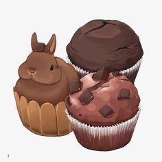 자유형 초콜릿 디저트,초콜릿 케이크,작은 디저트,갈색 토끼,토끼 Dessert Illustration, Rabbit Illustration, Art Kawaii, Kawaii Doodles, Kawaii Shop, Cute Kawaii Animals, Cute Animal Drawings Kawaii, Bunny Drawing, Bunny Art