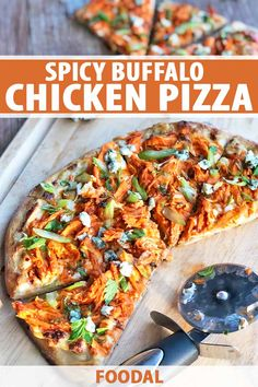 Looking for a pizza that packs a punch of flavor? Every bite of this zippy Buffalo chicken pie will leave you wanting more. It starts with a velvety blue cheese base and a layer of fiery chicken, and is finished with scallions and crunchy celery. Head to Foodal for the recipe. #buffalochicken #pizzarecipes #foodal Buffalo Chicken Pizza, Buffalo Chicken Sandwiches, Buffalo Chicken Recipes, Spicy Chicken Recipes, Pizza Recipes, Healthy Dinner Recipes, Easy Recipes, Easy Family Meals, Easy Meals