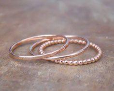 Dünn Gehämmerte Rose Gold gefüllten Ring Skinny von annikabella
