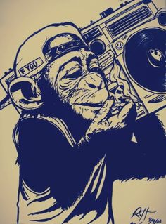 Drawings Of People With Swag Swag dope drawings Elementos Del Hip Hop, Primates, Monkey Pictures, Monkey Art, Monkey King, Graffiti Characters, Sketch Inspiration, Tattoo Inspiration, Dope Art
