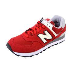 detailed look 461b4 fabd1 New Balance - Men s 574 Varsity Suede Sneaker - Burgundy New Balance Men,  Suede Sneakers