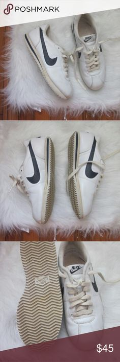 Nike Cortez Retro 2006 7s Leather Used but lots of life left! Women's 7s. Few cosmetic flaws. Light yellowing to laces but could be replaced or maybe washed.  Bundle for best deals! Hundreds of items available for discounted bundles! You can get lots of items for a low price and one shipping fee!  Follow on IG: @the.junk.drawer Nike Shoes Sneakers