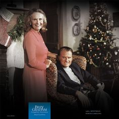 SHARING THE TRUE SPIRIT OF CHRISTMAS  |  1980, Montreat, North Carolina  |  Billy Graham shared the timeless message of Christmas - often accompanied by his wife, Ruth, and other family members - every year by radio or television.