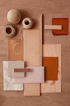 Material Mood Of The Week ~ Terracotta Shades & Warm Sand. The speckled quartz with the mediterranean colour palette work as inspiration for your bathroom or kitchen spaces. Colour Schemes, Color Trends, Earth Tone Decor, Material Board, Interior Paint Colors, Interior Design, Interior Architecture, Interior Painting, Colour Board