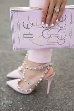 Pink - I've pinned the Valentino Rock Stud to this board a million times but I am D.Y.I.N.G. over these in the pink.