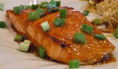 Honey Lime Glazed Salmon Fillets Tried a new recipe for dinner tonight. Broiled Honey- Lime Glazed Salmon Easy and yummy.Tonight Tonight may refer to: Salmon Recipes, Fish Recipes, Seafood Recipes, Cooking Recipes, Healthy Recipes, Healthy Food, Healthy Heart, Yummy Recipes, Gourmet