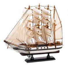 Home: Gifts & Decor Passat Tall Ship Detailed Wooden Model Nautical Decor - Buy New: $11.45