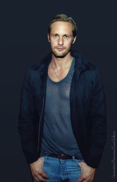 Alexander Skarsgård - Oh my stars, is it even legal that Mr Skarsgård is allowed to wear such a ridiculously indecent sheer tee-shirt ???