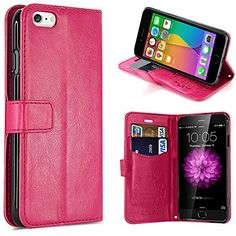 iPhone 6 Plus Case Pasonomi Kickstand Feature iPhone 6 Plus 55 Premium Wallet Leather Case  Classic Vintage Cover for Apple iPhone 6 iPhone Plus 55 Inch Smartphone Hotpink *** See this great product.