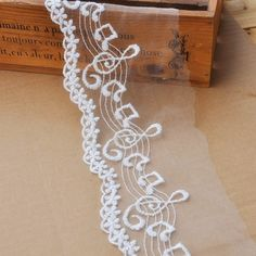 2 Yards Cotton LaceWave And Music Note by seasonalsupplies on Etsy, $3.99