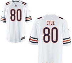 Men's Chicago Bears #80 Victor Cruz Navy White Stitched NFL Nike Elite Jersey