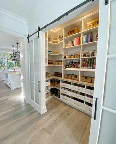 Pantry Organization, Organized Pantry, Pantry Ideas, Organisation Hacks, Things Organized Neatly, Organizing, Kitchen Pantry Design, Kitchen Shelves, Modern Kitchen Design