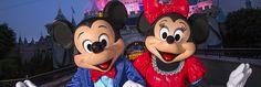 Mickey & Minnie Sleeping in front of Diamond Sleeping Beauty Castle (Night)