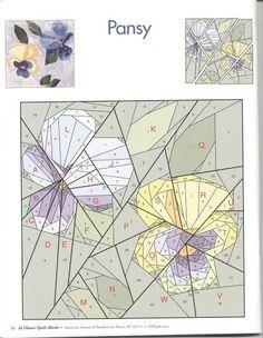 拼布图样 - 草知春 - Picasa Webalbums. Flower. Paper Piecing