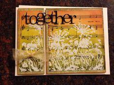 Handmade card/distress/ engagement/