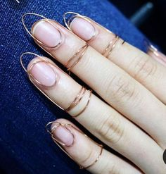 Bridal Nails Designs, Wedding Nails Design, Pretty Nail Designs, Fall Nail Designs, Diy Schmuck, Schmuck Design, Cute Jewelry, Body Jewelry, Nails Yellow