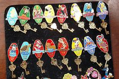 Rare LE 750 Disney Pin  Resorts Room Key 15 Pin Collection, Tinkerbell, Mickey.