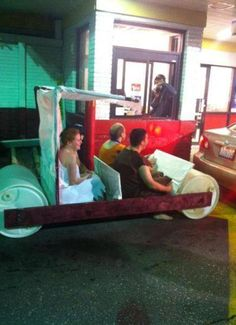 Flintstones Fast Food Drive Thru Prank