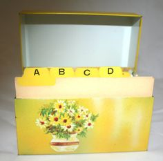 Vintage metal recipe box tin kitchen mid century modern - Oh cielos muebles ...