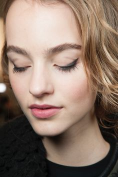An updated 1950s beauty look at Max Mara's fall show