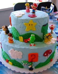 http://janet21.hubpages.com/hub/How-To-Make-A-Super-Mario-Birthday-Cake