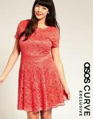 Asos curve lace waisted dress size 24