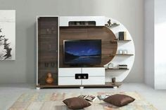 Modern tv wall unit designs design built in for bedroom Modern Tv Unit Designs, Modern Tv Wall Units, Wall Unit Designs, Living Room Tv Unit Designs, Modern Wall, Modern Living, Tv Unit For Living Room, Wall Units For Tv, Small Living