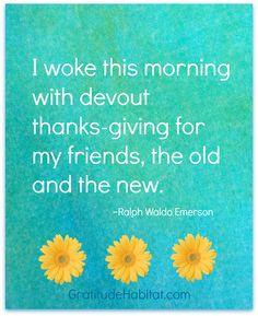 Thanks-giving for friends. #forfriends #gratitudehabitat  Visit us: www.GratitudeHabitat.com