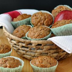 Zucchini Apple Muffins ~ The Way to His Heart