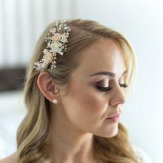 Langer Zopf Haarreif Kopfband Stirnband Haarschmuck mit Kunstblumen Deko