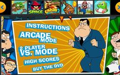 Play this kung fu fighter style cartoon game.Choose between Family Guy characters: Peter Griffin, Lois, Stewie, Brian, Chris and Meg; or American Dad characters: Stan, Roger, Hayley, Klaus, Steve and Francine. And fight agains each other, make combos and super movements, and have fun!
