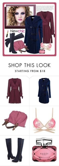 """NewChic 182. (Woman 31.)"" by carola-corana ❤ liked on Polyvore featuring Gucci and Kevyn Aucoin"