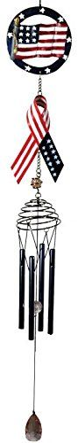 25 Inch Flag Top Poly Resin Patriotic Wind Chime with Metal Ribbon *** Be sure to check out this awesome product.