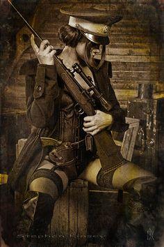 Image michaela crossy photo by Stephen Kinsey Steampunk/Dieselpunk in Steampunk Style album Steampunk Cosplay, Corset Steampunk, Mode Steampunk, Steampunk Fashion, Steampunk Weapons, Steampunk Necklace, Steampunk Clothing, Gothic Fashion, Cyberpunk