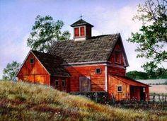 Church Barn by Fred Swan (165 pieces)