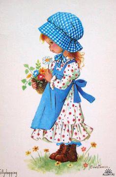 Holly Hobbie ~ Pretty in Blue Sarah Key, Holly Hobbie, Vintage Pictures, Vintage Images, Vintage Art, Cute Images, Cute Pictures, Vintage Illustration, Vintage Children
