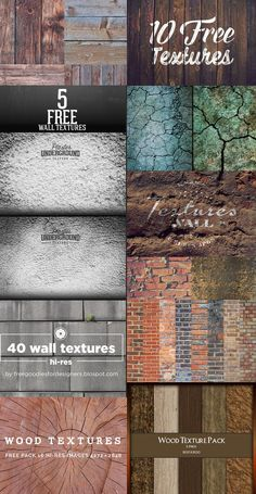 Free Wood Textures Packs Here are some nice wood & wall texture packs for you. These textures can be used in vintage styled designs, desktop backgrounds, websites or anything else. Free Wood Texture, Wood Wall Texture, Site Web Design, Tool Design, Design Design, Webdesign Inspiration, Graphic Design Inspiration, Texture Sketchup, Textured Walls