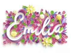 Custom Name Art / Framed Name Art / Quilling Art/ Nursery decor / Wall decor / Nursery Hanging/personalized decor Quilled Paper Art, Paper Quilling Designs, Quilling Paper Craft, Quilling Cards, Arte Quilling, Quilling Letters, Nursery Wall Decor, Nursery Art, Paper Magic