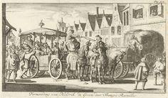 Jan Luyken   Moord op Hendrik IV, 1610, Jan Luyken, Timotheus ten Hoorn, Jan Bouwman, 1685   Moord op de Franse koning Hendrik IV. De koning zittend in een rijtuig wordt vermoord door de monnik François Ravaillac, 14 mei 1610. Prent rechtsboven gemerkt: Pag: 942.