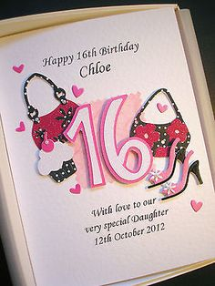 16th 17th #birthday card for #girls personalised daughter #grandaughter gift boxe,  View more on the LINK: http://www.zeppy.io/product/gb/2/171637886844/