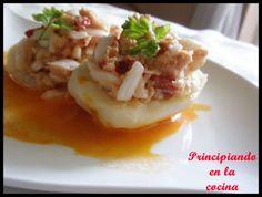 Barquitas de patata con atún