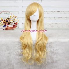 Free Shipping 75cm Long Sleeping Beauty gold wave curly cos hair wig CC11A+a wig cap Sleeping Beauty Costume, Wig Cap, Synthetic Wigs, Wig Hairstyles, Curly, Waves, Free Shipping, Gold, Wave